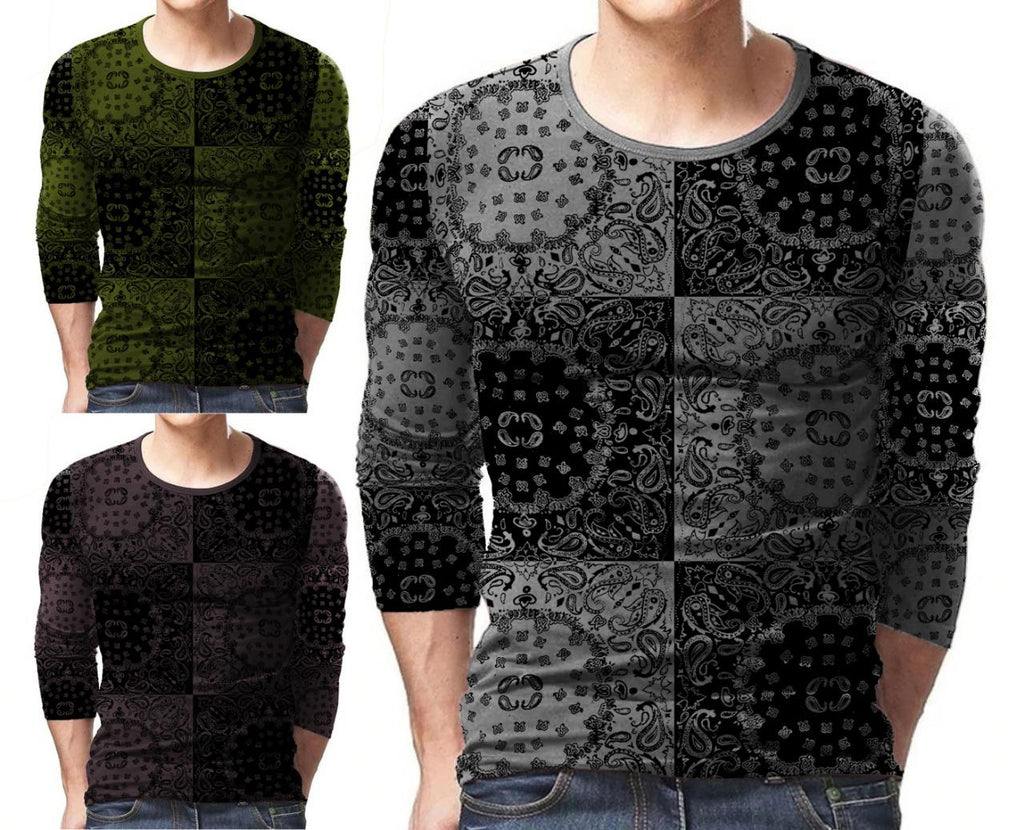 Pack of 3 Designer T-Shirt For Men - Paksa Pk