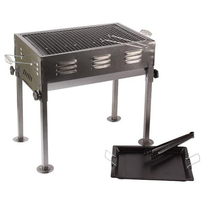 Dual Charcoal BBQ Barbecue Grill with Cooking Plate - Paksa Pk