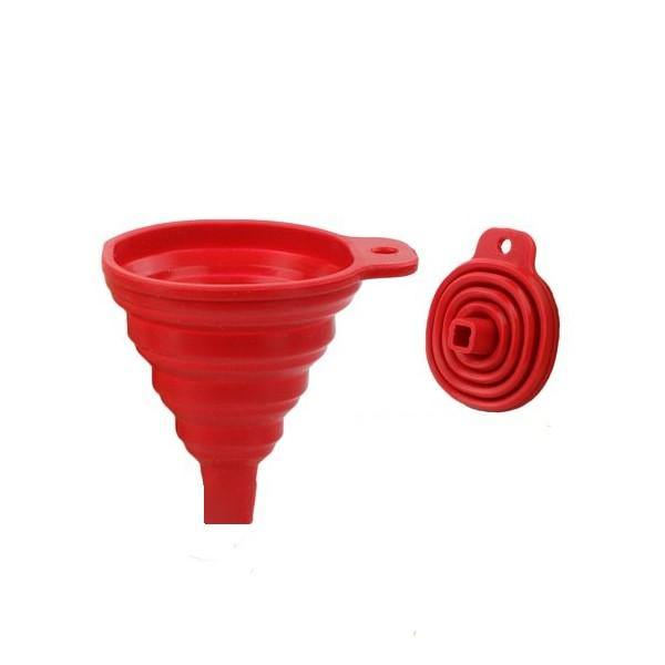 Collapsible Silicone Funnel For Liquid Ingredient Transfer