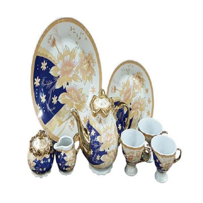 Fancy Tea Set Porcelain with plates-24 Pcs - Paksa Pk