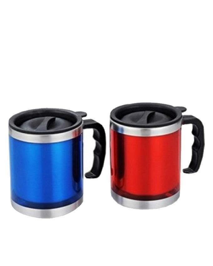 Stainless Steel Coffee Mugs With Lids-2 Pcs