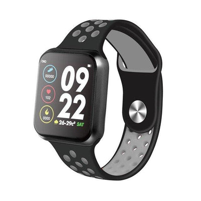 F9 Plus 44 mm Smart Watch with Full Touch Screen Waterproof Black Grey - Paksa Pk
