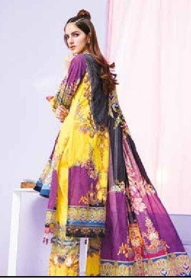 GJ COLLECTION DIGITAL PRINTED LAWN 3 Piece Unstitched 06 - Paksa Pk