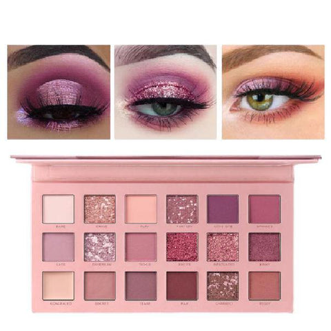 18 Colors Miss Rose Nude Eyeshadow Palette