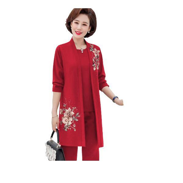 3 Piece Fully Embroidered Linen Suit
