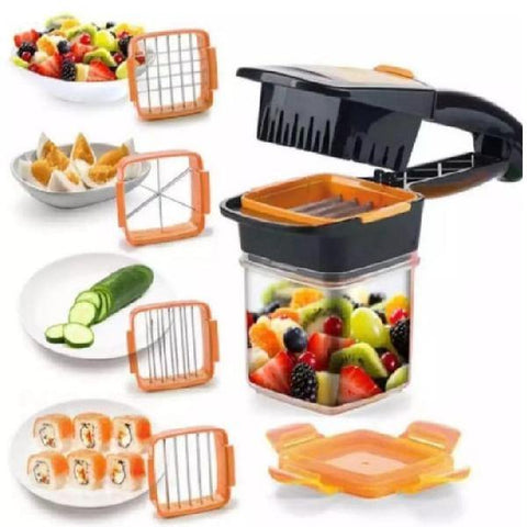 5 in 1 Dicer Fruit Vegetable Multi-Cutter with Stainless Steel Chopper