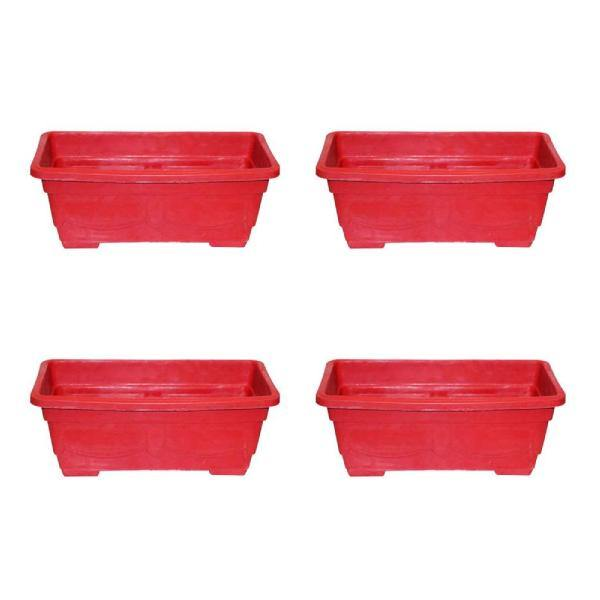 Pack of 4 Large Kiari For Plants and Flowers 11 x 8.5 x 6.25 inch