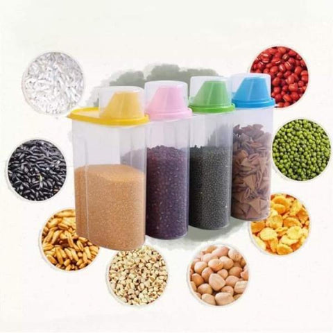 Moistureproof Plastic Food Storage Pulse Container/Dispenser