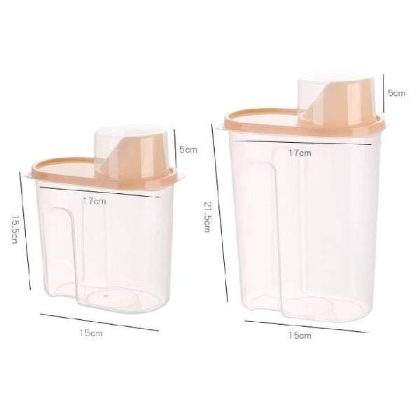 Moistureproof Plastic Food Storage Pulse Container/Dispenser - Paksa Pk