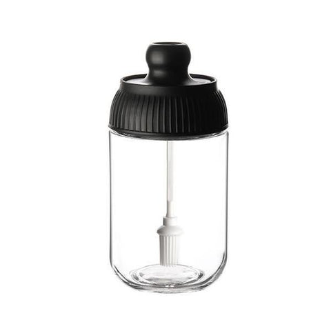 Moisture-proof Seasoning Bottle/Brush Oil Bottle/Honey Bottle Transparent Glass Condiment Jar - Paksa Pk