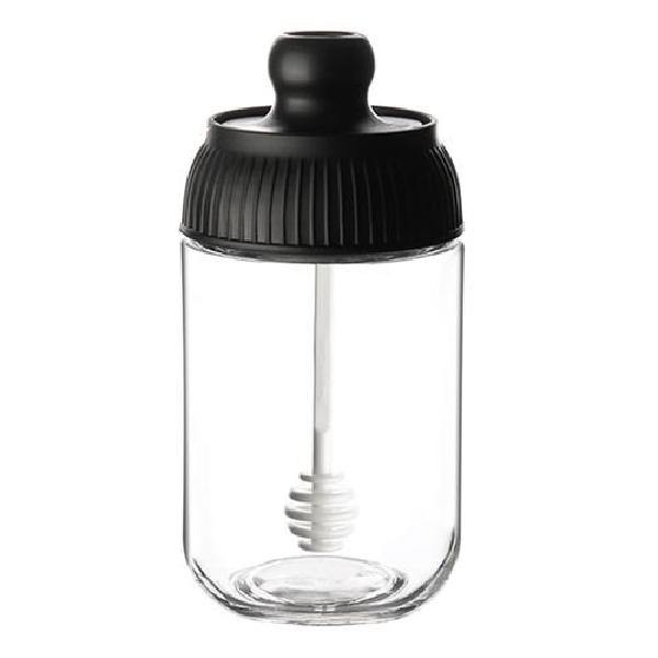 Moisture-proof Seasoning Bottle/Brush Oil Bottle/Honey Bottle Transparent Glass Condiment Jar