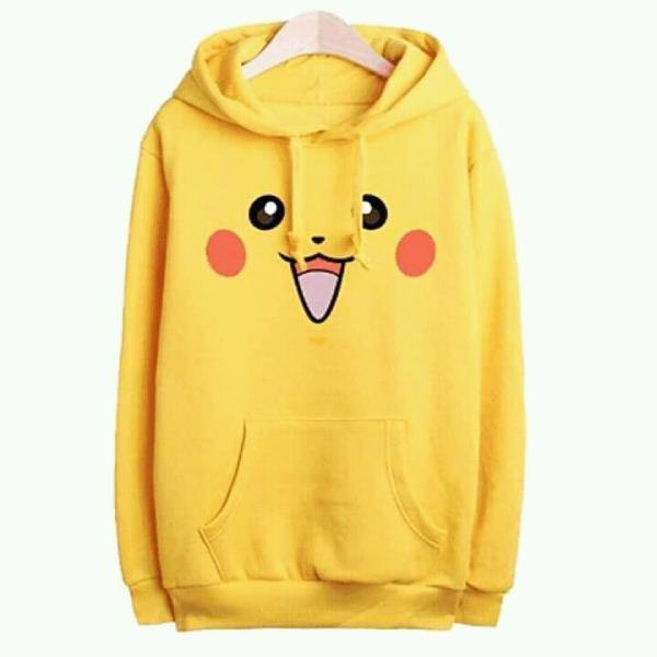 Yellow Pokemon Pikachu Winter Hoodie for Couples
