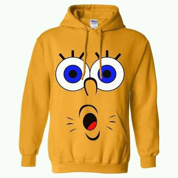 Yellow Sponge Bob Printed Winter Hoodie for Unisex