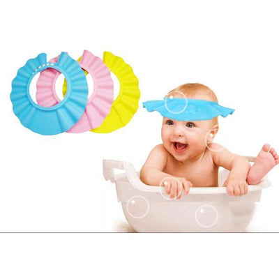 Adjustable Waterproof Baby Shampoo Shower Umbrella Soft Cap - Paksa Pk