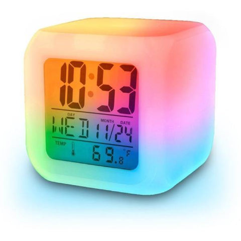 Light-Up Color Changing Custom Alarm Clock