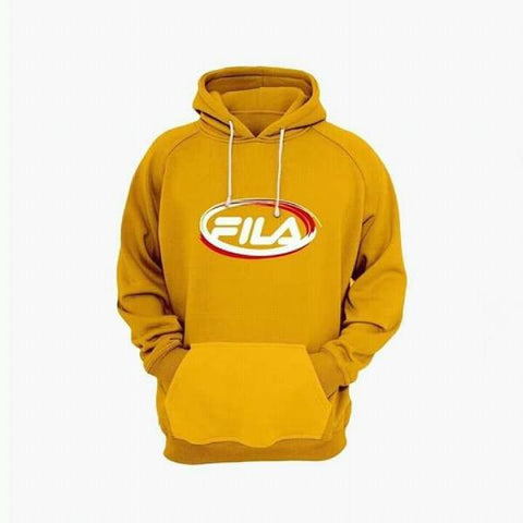 Fila Printed Yellow Fleece WInter Hoodie for Unisex - Paksa Pk