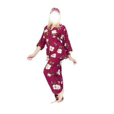 4 Pc Comfy Night Dress With Slipper and Eyeband - Paksa Pk