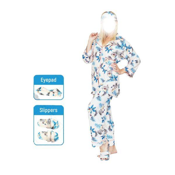 4 Pc Comfy Nightdress With Slipper and Eyeband - Paksa Pk