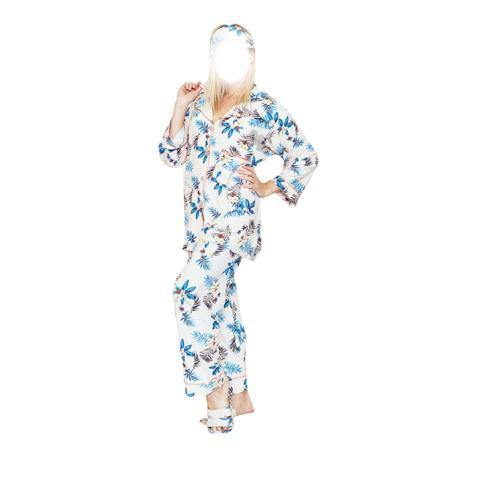 4 Pc Comfy Nightdress With Slipper and Eyeband