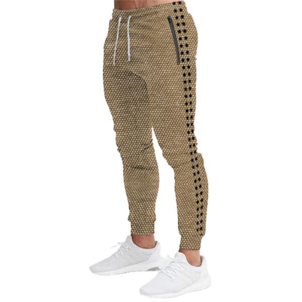 Men's Gym Jogger Pants with Zipper Pockets