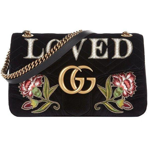 Gucci Loved Velvet Crossbody Purse