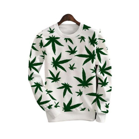Leaf Printed Winter Sweat Shirt for Men