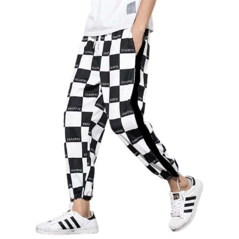 Fashion Box Pattern Printed Trouser