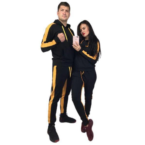 Yellow Panel Couple Tracksuit