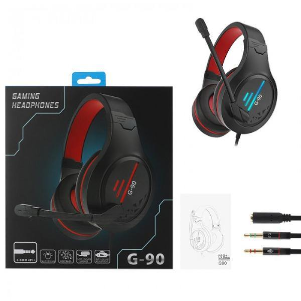 G90 Wired Gaming Stereo with Microphone 3.5MM Gaming Headset