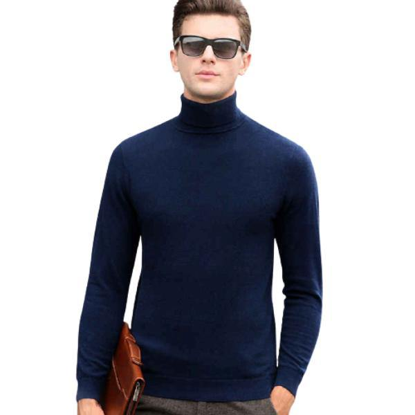 Warm Fleece Full Sleeves High Neck for Men