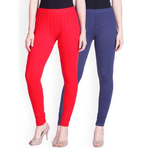 Women's Plain Cotton Lycra Churidar Leggings
