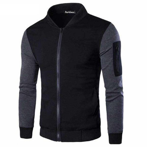 Charcoal Winter Sleeves Zipped Jacket - Paksa Pk