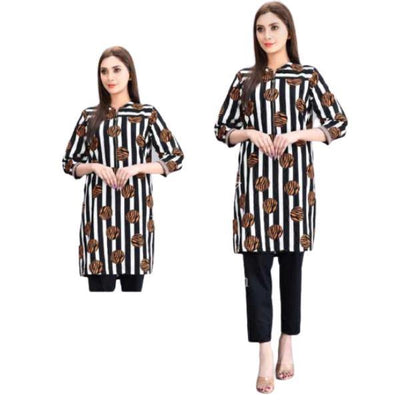 2 Pc Kishmish Akhrot Boski Linen Suit for Women - Paksa Pk
