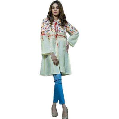 Full Sleeves Embroidered Top for Women - Paksa Pk