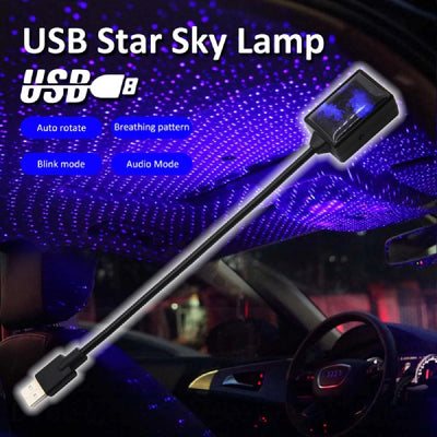 Auto Rotating USB Star Light Blue Color