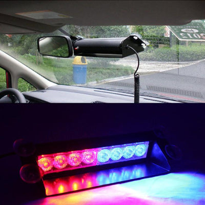 LED Red and Blue Police Flash Light For Dashboard