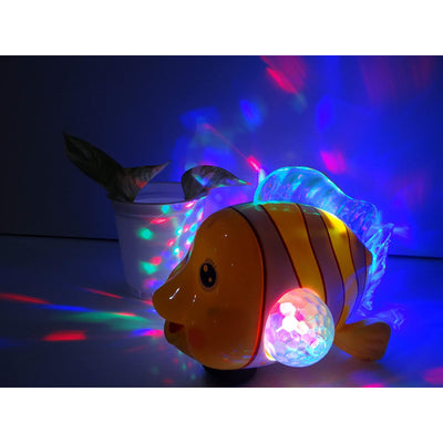 Electric Fish Toy with Sound & 3D Flashing Light