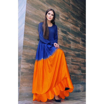 2 Colors Long Maxi Frock for Women