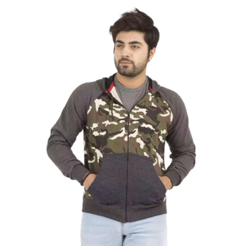 Front Commando Design & Zipped Fleece Jacket