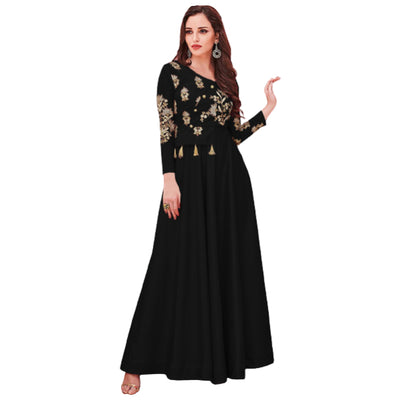 Heavy Embroidered Long Maxi Dress for Women