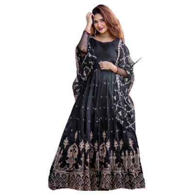Full Embroidered Long Maxi Dress for Women