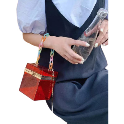Transparent Acrylic Crossbody Bag for Women