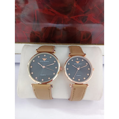 Pack of 2 - Emporio Armani Quartz Analog Watch for Couples