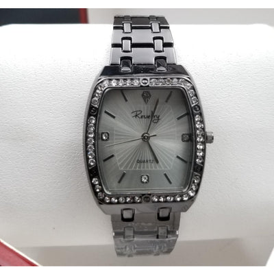 Revelry Stainless Steel Square Dial Silver Watch for Women
