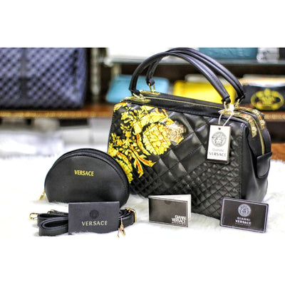 2 Pcs - Giani Versace Shoulder and Crossbody Bag with Pouch