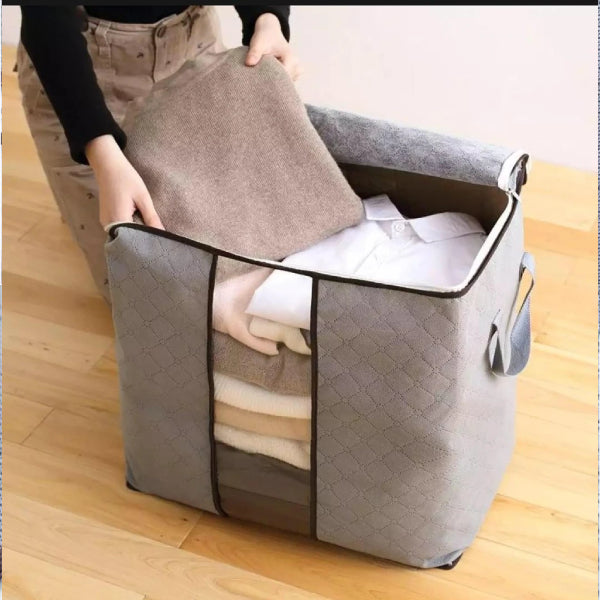 Thick Fabric Large Capacity Clothes Storage Bag Organizer with Reinforced Handle