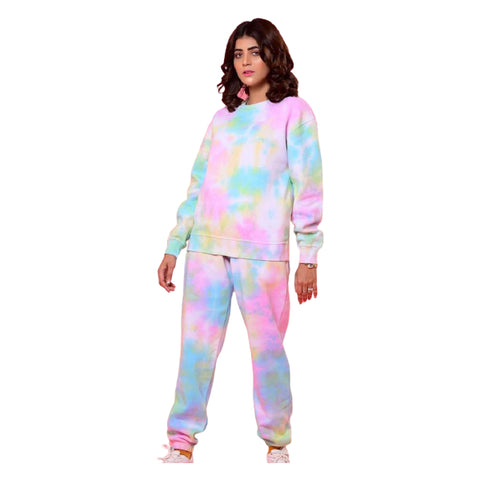 Double Fleece Tie Dye Tracksuit for Women
