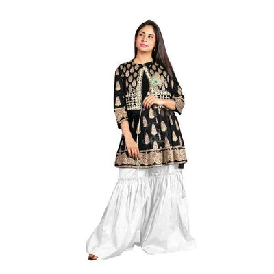 3 Pcs Fully Embroidered Shirt Garara Koti - Paksa Pk