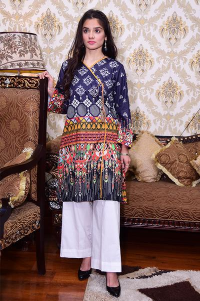 Women Digital Printed Lawn Kurti - Paksa Pk