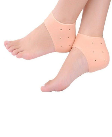 Silicone Gel Heel Pad Socks for Pain Relief and anti crack heel - Paksa Pk